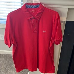 Vineyard Vines XL Stars and Stripes Red Polo